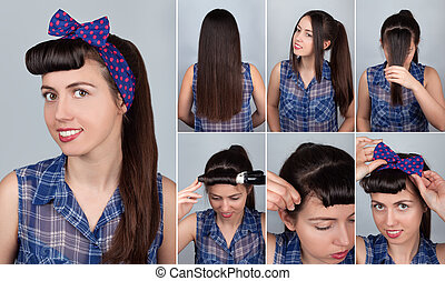 hairstyle pony tail on long hair tutorial - simple hairstyle...