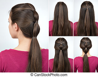 hairstyle pony tail tutorial - simple hairstyle pony tail ...
