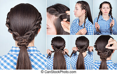 hairstyle ponytail tutorial - simple hairstyle ponytail with...