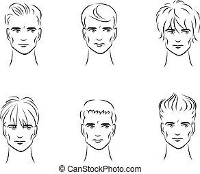 hairstyles, mężczyźni