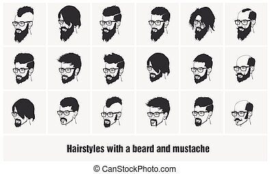 hairstyles with a beard and mustache wearing glasses full face