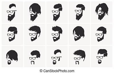 hairstyles with beard and mustache wearing glasses full face