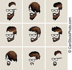 hairstyles with beard and mustache