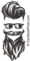 hairstyles with beard mustache sunglasses - mens hairstyles...