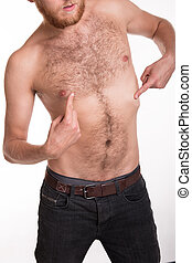 Hairy-chested man