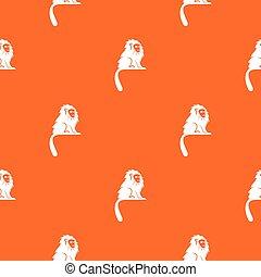 Hairy monkey pattern seamless