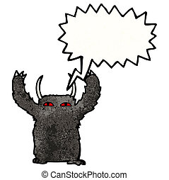 hairy monster cartoon