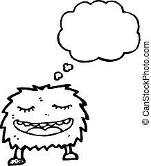 hairy monster cartoon