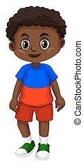 Haiti boy with happy face