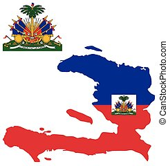 Haiti Flag - Flag and coat of arms of the Republic of Haiti...