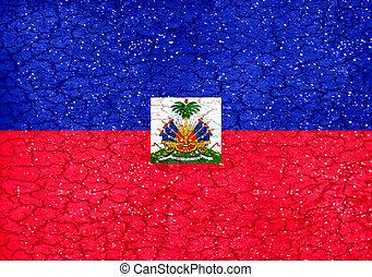 Haiti Grunge Style National Flag