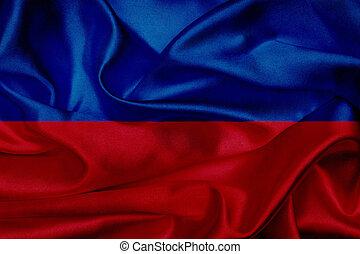Haiti grunge waving flag