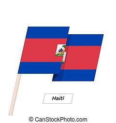 Haiti Ribbon Waving Flag Isolated on White. Vector ...