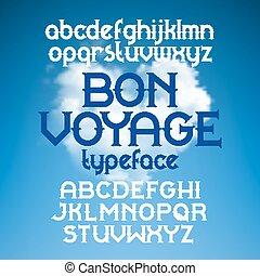 hajóút, betűkép, retro, utalvány, szokás