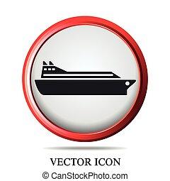 hajó, állhatatos, csónakázik, ikonok