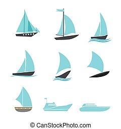 hajó, állhatatos, ikonok