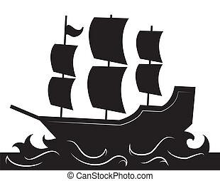 hajó, árnykép