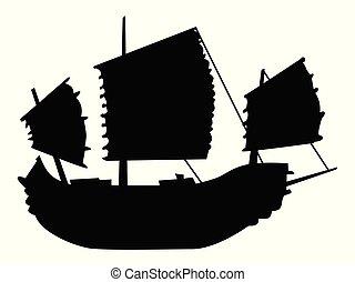 hajó, öreg, vitorlázás