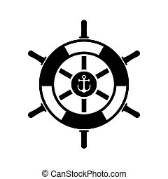 hajó, gördít, ikon