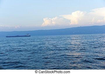 hajó, harckocsi, tenger