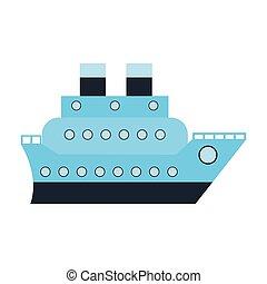 hajó, jelkép, csónakázik, cirkálás