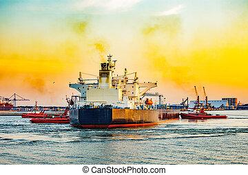 hajó, tartálykocsi, istrángok