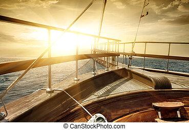 hajó, tenger