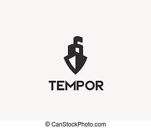 hajó, vektor, logotype., csónakázik, kreatív, ikon, jel