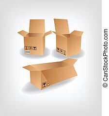 hajózás, doboz, vektor