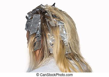 haj, erős fények, foil., alumínium, csomagolt