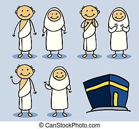 Hajj Pilgrimage Stick Character
