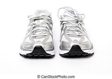 hajlandó, futás, tréning, cipők