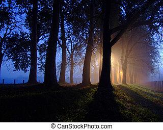hajnalodik, és, raylights