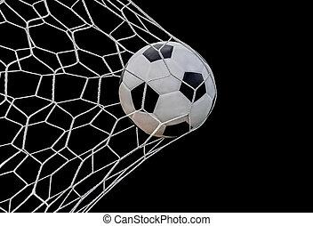 hajtás, futball kapu, labda