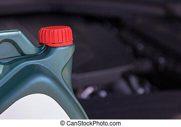 hajtómű, autók, kenőanyag, olaj, palack, fenntartás, műhely