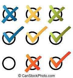 hak, -, krzyż, barwny, wybór