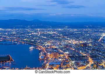 Hakodate City view at night