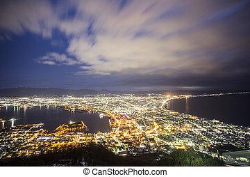 Hakodate viewpoint best top 3 nightview in Japan. Hakodate. Japan
