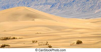 halál, dűne, nagy, homok, kalifornia, napnyugta, völgy