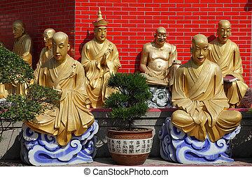 halánték, buddhas, 10000, hong kong