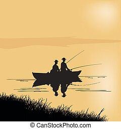 halász, boat., két