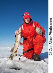 halász, jég