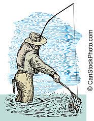halász, slicc halfajták, noha, háló