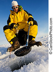 halász, tél
