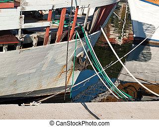 halászat, öreg, csónakázik