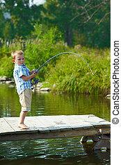 halászat, kölyök