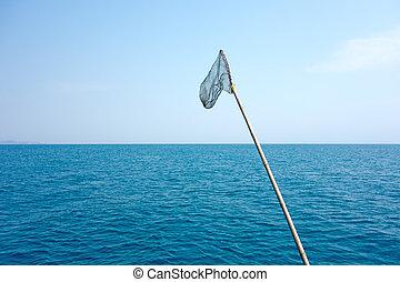 halászat, szárazföld behálóz