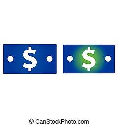 halabarda, dolar, ikona