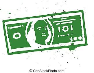 halabarda, dolar, ilustracja