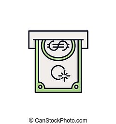halabarda, dolar, odizolowany, ikona